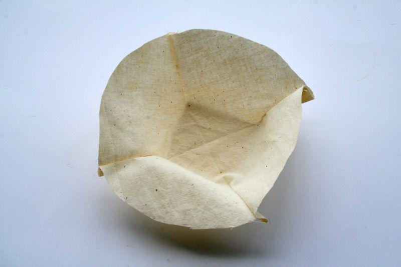 Handmade coffee filter